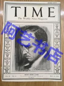 【现货】时代周刊杂志 Time Magazine, 1924年,珍贵史料。