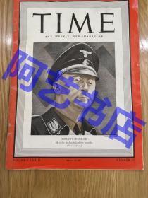 【现货】时代周刊杂志 Time Magazine, 1939年,封面'德国 盖世太保 - 希姆莱',珍贵史料。
