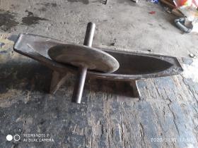 老药碾子(铸铁,完整)应该是民国时期,保老,重23公斤,运费商议