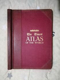 泰晤士世界测量地图集 ,the times atlas of the world ,1920年第二版,泰晤士最经典的版本,也是最知名的世界地图集。