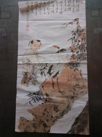 老旧藏:一代大师水墨画作品:松鹤.童趣图 范曾 可装裱