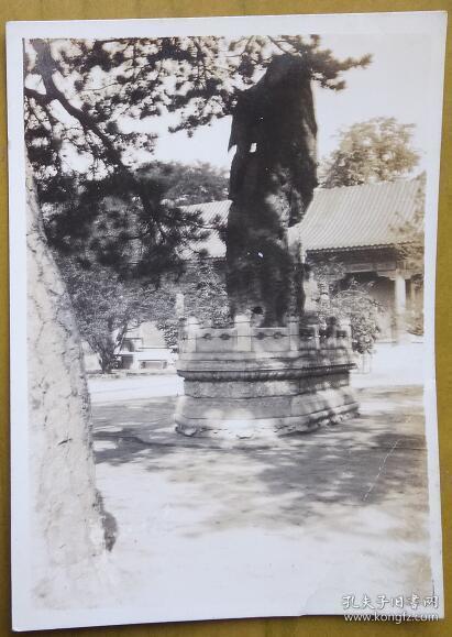 """民国老照片:民国北平——颐和园,背面有""""安庆留真代印""""字样。《民国北京系列》"""