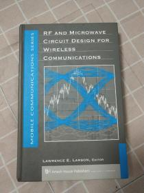 【英文原版,精装】RF AND MICROWAVE CIRCUIT DESIGN FOR WIRELESS COMMUNICATIONS无线通信射频微波电路设计