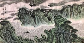 海派画家 上海市美术家协会会员 杜春明山水画作品 保真迹