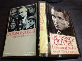 英法德意等原版外文 LAURENCE OLIVIER Confessions Of An Actor: An Autobiography 1982年 大32开硬精装