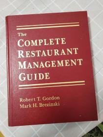 【英文原版】the complete restaurant management guide完整的餐厅管理指南【精装】