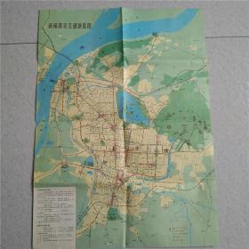 新编南京交通旅游图 1988年1版