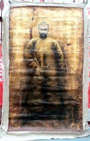 创作油画:李大钊(尺寸长170厘米,宽100厘米)