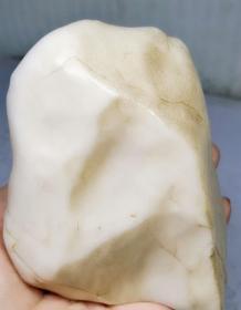 3731  新疆 羊脂白 戈壁玉 原石 摆件 638克