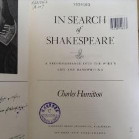 In search of Shakespeare: A reconnaissance into the poets life and handwriting