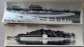 """解放初期""""天安门,故宫,天坛,颐和园""""等风光长条照片7张"""