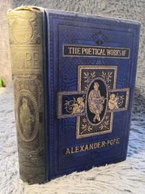 1878年  THE POETICAL WORKS OF ALEXANDER POPE 亚历山大蒲柏诗集  插图版  三面刷金 19X13CM