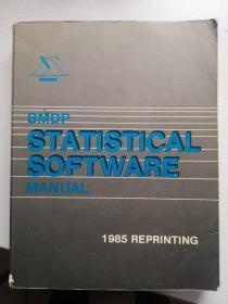 1985年BMDP手册——1985 BMDP MANUAL