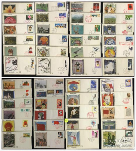 集邮收藏的珍品——《北美绢丝首日封》大全套(52套,190件)
