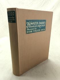 The Water Babies  查尔斯·金斯利著《水宝宝》1916年 出版,多幅女插画家杰西·威尔科克斯彩色插图,精装,362页