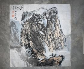 荆州监利姚伯齐山水画精品,高山