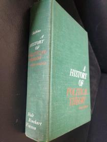 Sabine 萨拜因 名著 : A History of Political Theory 政治学说史 第3版 原版精装本