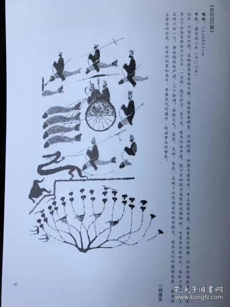 """《河伯出行图》原石博物馆藏,四千仅指软片的价,河伯是古代汉族神话中的黄河水神,原名冯夷,也作""""冰夷""""。《抱朴子---释鬼篇》载:"""