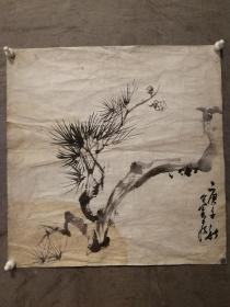 老画作、未留款印(老画作) 款识:庚子(1960年)(不详) 尺寸:33㎝X33㎝