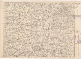 1942年《巨野老地图》图题为《巨野》(原图高清复制)(图中含定陶、菏泽、成武、郓城等县一部,菏泽巨野定陶成武郓城老地图),日军军用,地图四至范围请看最后一张照片地图分幅栏,全图比例尺十万分之一,测绘单位和年代详见图片。菏泽巨野县地理地名历史变迁重要史料。此图种非常稀少。原图高清复制,裱框后,风貌佳。