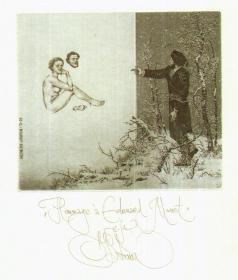 Konstantin Kalinovich康斯坦丁·卡里诺维奇藏书票原作10