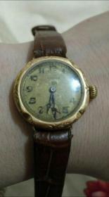早期真力时瑞士金表正常工作,瑞士古董纯金表
