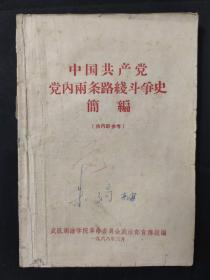 中国共产党党内两条路线斗争史A54