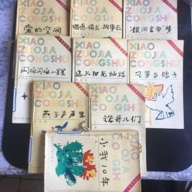 小作家丛书(10本合售):《这儿阳光灿烂》《喵呜 镇长 故事云》 《闪烁闪烁的小星星》 《爱的空间》 《银河皇帝梦》 《红苹果季节》《风筝与鸽子》 《铁哥儿们》《小我10年》《燕子声声里》学生写作范本,每本书都有名作家作序,
