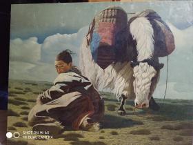 布面人物风景油画