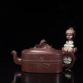 紫砂『螭龙』钮茶壶