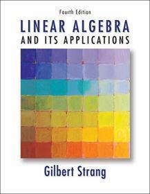 现货 Linear Algebra and Its Applications  4e 英文原版 线性代数及其应用 第4版  Gilbert Strang 吉尔伯特·斯特朗
