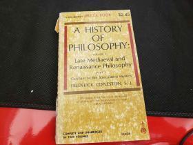 History of Philosophy Volume 3 Part 1 Late Mediaeval & Renaissance Philosophy Ockham To the Speculative Mystics