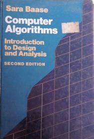 【精装英文原版计算机算法名作】Computer Algorithms: Introduction to Design and Analysis 计算机算法:设计与分析导论