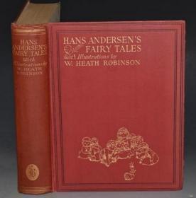 1897年Hans Christian Andersens Fairy Tales 《安徒生童话集》著名画家希思•罗宾逊绘本珍贵初版本 品佳 绝美彩色插图