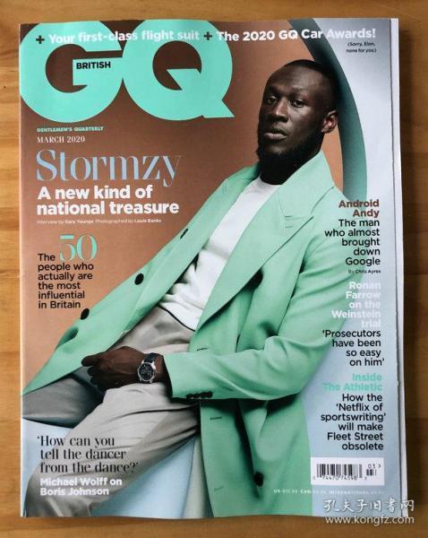 GQ 绅士杂志 英国版 2020年3月 男士时装穿搭 时尚品牌生活方式期刊  英语学习读物