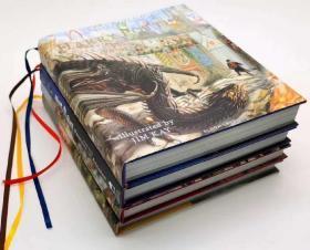 Harry Potter 精美彩绘版  四本一套 点读版