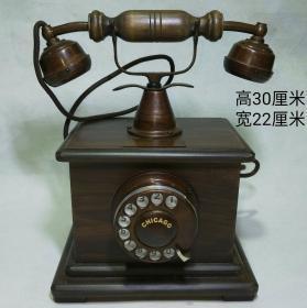 民间旧藏老式电话机手摇式老电话机