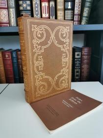 Robinson Crusoe《 鲁滨逊漂流记》 daniel defoe 丹尼尔迪福的 经典小说 Franklin library 1977 真皮精装版 限量收藏版 世界永恒经典100本名著系列丛书