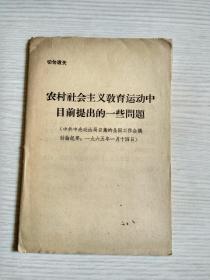 农村社会主义教育运动中目前提出的一些问题【一九六五年一月十四日】