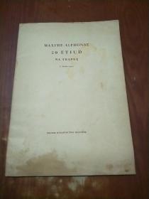 MAXIME--ALPHONSE  20 ETIUD  NA TRABKE 8开
