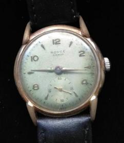 瑞士老牌古董K金表!能走