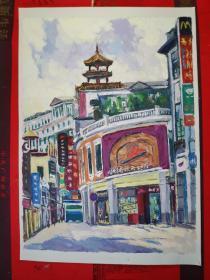 【广州画家所画的小画------原画】一张。品如图。A7