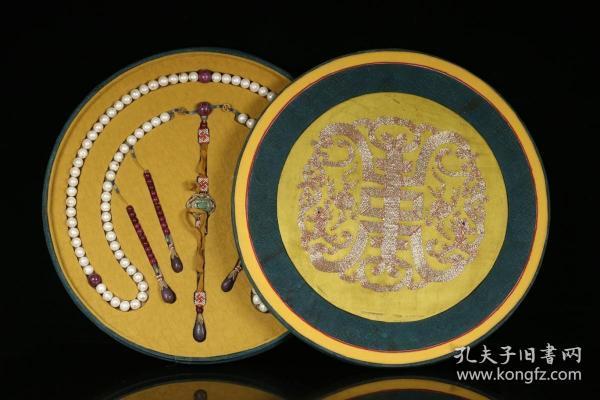 藏家旧藏、清代、老珍珠朝珠