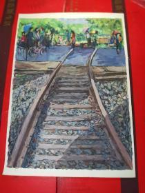 【广州画家所画的小画------原画】一张。品如图。A14