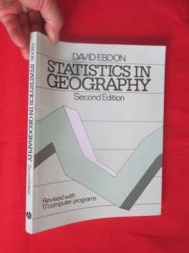 Statistics In Geography 2E - Revised       (16开)   【详见图】