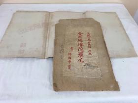 人类佛教文化遗产:战前庆州佛国寺高丽八万大藏经原版木印刷的《金刚经塔陀罗尼》,极殊胜。已装裱好,红木刻版画
