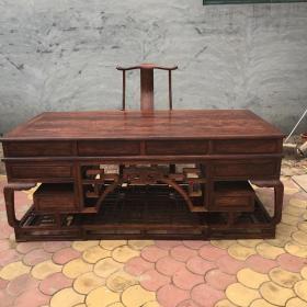 中式家具老板台越南黄花梨一套