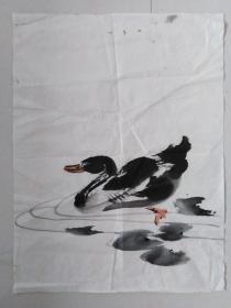 国画~水墨画~鸭