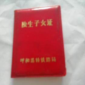 1985年独生子女证