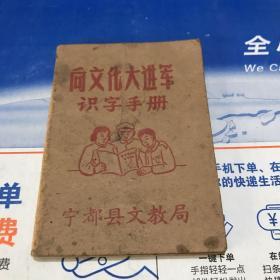 1958年宁都县文教局编 向文化大进军识字手册